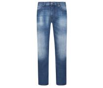 Slim Fit Jeans im Washed-Look von Armani Jeans in Hellblau für Herren