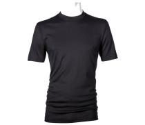 Unterhemd, Rundhals in Schwarz