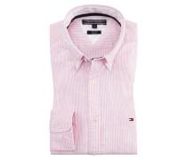 Slim Fit Stretch Businesshemd, Oxford, gestreift