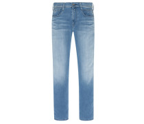 Stretch-Jeans, Slim Fit, Anbass in Hellblau