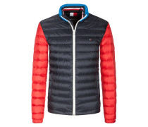 Lightweight Stepp-Daunenjacke, packbar in Marine
