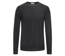 Pullover aus 100% Merinowolle in Anthrazit