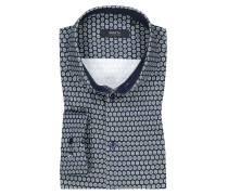 Jerseyhemd mit Muster in Marine