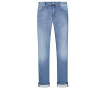 5-Pocket Jeans mit Washed-Look, Fredo 1671