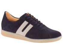 Sneaker in Veloursleder, BW-Sport Sohle in Blau