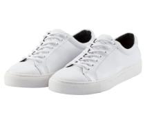 Schlichter Leder-Sneaker, Spartacus Base in Weiss