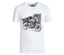T-Shirt mit Frontprint in Weiss