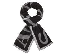 Schal im Wollmix mit Labelschriftzug von Armani Jeans in Schwarz für Herren