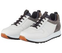 Sneaker mit Kontrastdetails in Weiss
