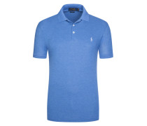 Angenehm softes Poloshirt, Slim Fit in Blau