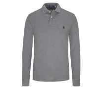 Langarm-Poloshirt, Custom Slim Fit Hell