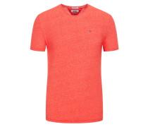 T-Shirt mit Rundhalsausschnitt, Slim Fit in Rot