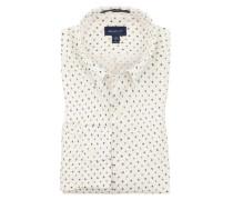 Oberhemd im Minimalprint, Regular Fit in Offwhite