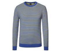 Pullover im Baumwoll-Mix, gestreift in Royal