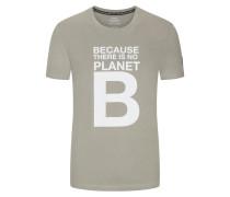 T-Shirt mit Frontprint in Khaki
