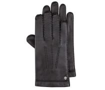 Lederhandschuhe mit elegantem Stitching in Schwarz