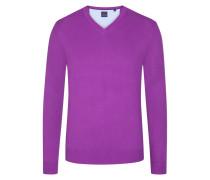 Basic V-Neck Pullover in Lila