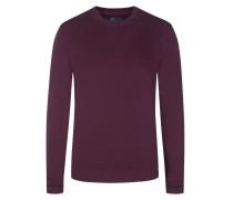 Sweatshirt, O-Neck in Bordeaux