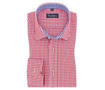Trachtenhemd mit Karo-Muster in Rot