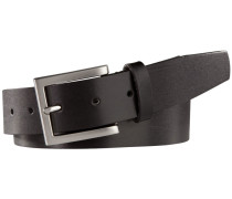 Klassischer Ledergürtel in Schwarz