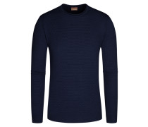 Pullover aus 100% Merinowolle in Marine