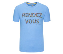 'Rendezvous' T-Shirt, Rundhals in Hellblau