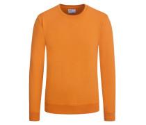 Sweatshirt im Washed-Look in Orange