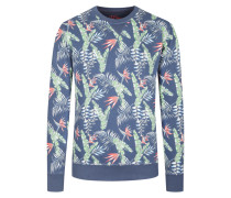 Sweatshirt mit modischem Print in Marine