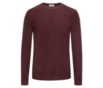 Pullover aus 100% Merinowolle in Bordeaux