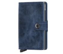 Vintage-Geldbeutel mit Cardprotector in Blau