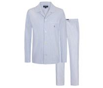 Gestreifter Oxford-Pyjama von Polo Ralph Lauren in Hellblau für Herren