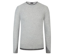 Pullover im Alpaka-Mix in Grau