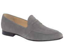Eleganter Slipper in Veloursleder in Grau