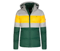 Daunenjacke, Multicolor in Gruen