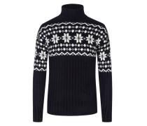 Pullover mit modischem Muster in Marine
