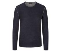 Pullover aus Merinowolle in Blau