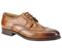 Businessschuh, Full-Brogue in Braun