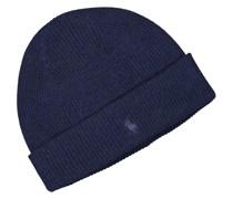 Mütze aus 100% Kaschmir Marine