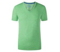 V-Neck Tshirt mit Brusttasche in Hellgruen