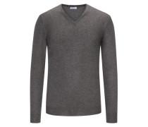 Pullover mit Kaschmiranteil in Grau