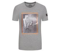 T-Shirt mit Frontprint in Grau