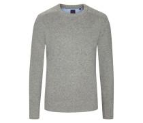Pullover, O-Neck in Silber