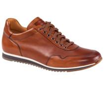 Hochwertiger Ledersneaker in Cognac