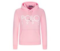 Sweatshirt mit Frontprint in Rosa
