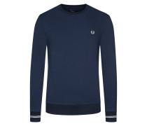 Sweatshirt, O-Neck in Blau