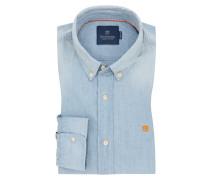 Freizeithemd in Jeans-Optik in Hellblau