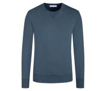 Sweatshirt mit Stretchanteil in Blau