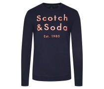 Sweatshirt mit Labelaufschrift in Marine