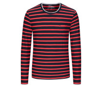 Gestreiftes Sweatshirt in Marine