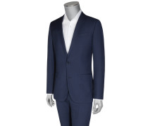 Businessanzug, Minikaro, Slim Fit in Marine